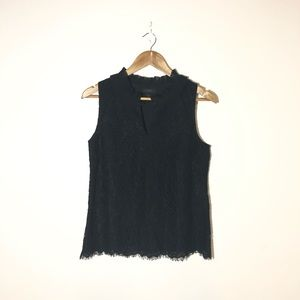 J. Crew Tops - J. Crew Lace Ruffle Neck Top Size S